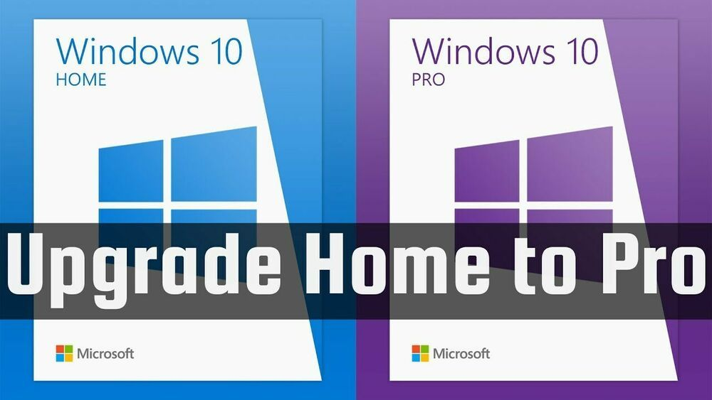 Microsoft Windows 10 Home to Pro Product Key - 32/64 Bit ...
